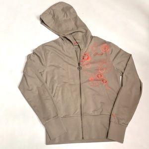 Puma Embroidered Zip Up Hoodie